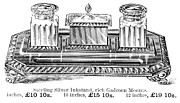 Sterling Silver Prints - INKSTAND, 19th CENTURY Print by Granger
