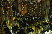 Apartment Houses Prints - Inland View Of Sheung Wan And Central Print by Justin Guariglia