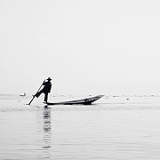 Inle Fisher Print by Nina Papiorek