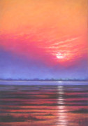 Set Pastels Posters - Inlet Sunset Poster by Deb Spinella