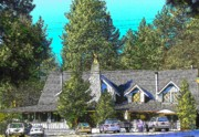 Idyllwild Framed Prints - Inn at Idyllwild Framed Print by Lisa Dunn