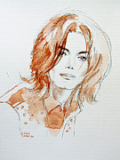 Mj Tribute Art Drawings Posters - Inner Beauty Poster by Hitomi Osanai
