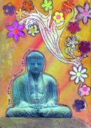 Budda Mixed Media - Inner Bliss by Desiree Paquette