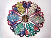 Enamel On Copper Art - Inner Cosmos Expanding by Margaret Ann Johnson Wilmot