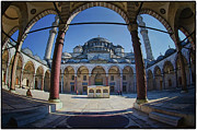 Sultan Prints - Inner Courtyard Print by Joan Carroll