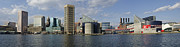 American City Prints - Inner Harbor Panorama - Baltimore - Maryland Print by Brendan Reals