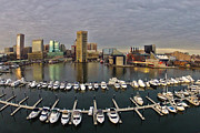 Go Pro Framed Prints - Inner Harbor Framed Print by Elevated Element