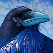 Birds Of Prey Paintings - Inner Knowing by Brian  Commerford