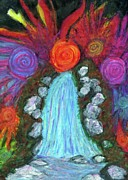 Waterfall Pastels Originals - Inner Presence by Cassandra Donnelly