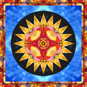 Circle Mandalas Framed Prints - Inner Sun Framed Print by Bell And Todd