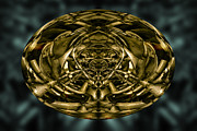 Symmetrical Digital Art Posters - Inner World Poster by Dave Gordon
