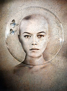 Woman Face Prints - Inner World Print by Photodream Art