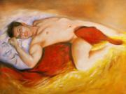 Masculine Painting Originals - Innocence And Prejudice  by Viviana Puello Villa