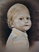 Nourish Drawings - Innocence by Lonnie Tapia