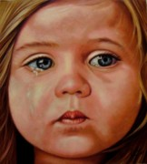 Sad Pastels Originals - Innocence by Saba Aghajan