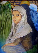 Hijab Paintings - Innocence by Sulzhan Bali