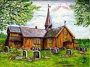 Innset Kirke -- Norway Print by Carol Allen Anfinsen