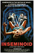 Horror Movies Framed Prints - Inseminoid, 1981 Framed Print by Everett