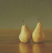 Pear Pastels Prints - Inseparable  Print by Barbara Groff