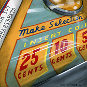 Jukebox Prints - Insert Coin Print by Rob De Vries