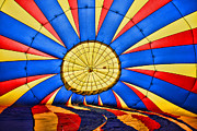Ballooning Posters - Inside a Hot Air Balloon Poster by Paul Ward