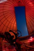 Observatories Prints - Inside An Observatory With Telescope Print by Greg Dale