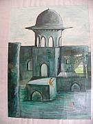 Castle Mixed Media Originals - Inside Castle by Rajendra Yadav