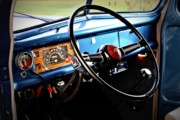 Vintage Truck Photos - Inside by Cathie Tyler