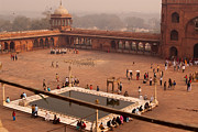 Building Prints - Inside Jama Masjid in the huge courtyard Print by Ashish Agarwal
