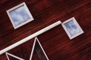 Barn Windows Photos - Inside Out by Rebecca Cozart