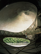 Telescope Dome Framed Prints - Inside Radome Of Upgraded Arecibo Radio Telescope Framed Print by David Parker
