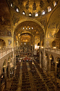 Byzantine Photos - Inside San Marcos Basilica by Jim Richardson