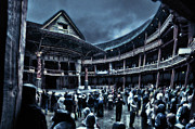 Gloomy Prints - Inside Shakespeares Globe Print by Rich Beer