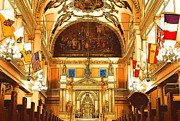Byzantine Digital Art Prints - Inside St louis Cathedral Jackson Square French Quarter New Orleans Digital Art Print by Shawn OBrien