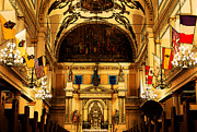 Byzantine Digital Art Prints - Inside St louis Cathedral Jackson Square French Quarter New Orleans Fresco Digital Art Print by Shawn OBrien