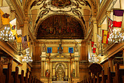Byzantine Digital Art Prints - Inside St louis Cathedral Jackson Square French Quarter New Orleans Poster Edges Digital Art Print by Shawn OBrien