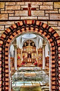 St. Nicholas Acrylic Prints - Inside St. Nicholas Chapel at a Greek Monastary in Florence AZ Acrylic Print by Matt Suess