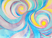 Swirls Paintings - Inside the Feather by Sue Gardiner