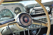 Antique Automobiles Framed Prints - Inside The Packard Framed Print by Jan Amiss Photography