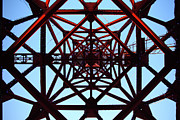 Tower Crane Framed Prints - Inside Tower Of Crane Framed Print by Masahiro Hayata