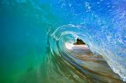 Amazing Photo Framed Prints - Inside Wave Framed Print by Quincy Dein - Printscapes