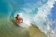 Boarder Prints - Inside Wave Tube Print by Quincy Dein - Printscapes