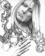Surrealism Drawings - Insight by Karen Musick