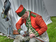 Redcoat Art - Inspecting His Musket by Robert Nelson