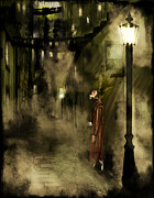 Gas Lamp Framed Prints - Inspector Hook Framed Print by Mandem