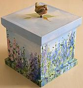 Wren Mixed Media Originals - Inspiration Box by Laurie Rohner