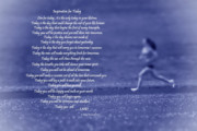 Goals Prints - Inspiration for Today Runner  Print by Cathy  Beharriell