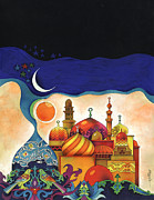 Nights Posters - Inspiration of The Arabian Nights Poster by Mohamed Abotalib