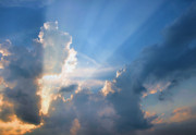 Cumulus Clouds Posters - Inspiration Point Poster by Kristin Elmquist