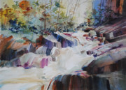 Rocky Shoreline Paintings - Inspiration Point by P Anthony Visco